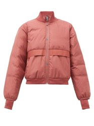 Adidas By Stella Mccartney Padded Bomber Jacket Red