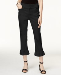 Inc International Concepts Ruffled Cropped Pants Only At Macy's Deep Black