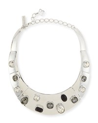Oscar De La Renta Swarovski Crystal Collar Necklace Black