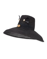 Yestadt Millinery Cheeky Hemp Sun Hat Black