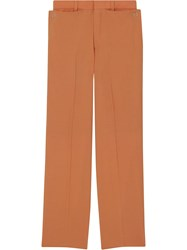 Burberry Wide Leg Trousers Orange