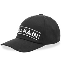 Balmain Badge Baseball Cap Black