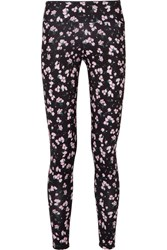 Bodyism Emilia Wickstead Liv Floral Print Stretch Jersey Leggings Pink Gbp