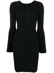 Antonino Valenti Fluted Sleeve Dress Black