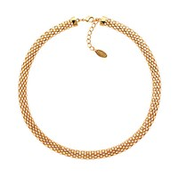 Finesse Mesh Necklace Gold