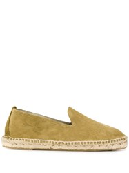 Manebi Slip On Hamptons Espadrilles Green