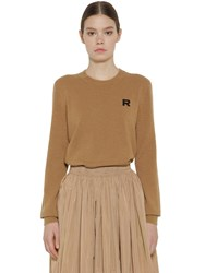 Rochas Cashmere Knit Sweater Camel
