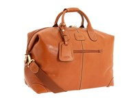 Bric's Milano Life Leather 18 Duffel Cognac Leather Duffel Bags Brown