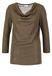 Vila Visumi Long Sleeved Top Ivy Green Khaki
