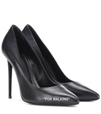Off White For Walking Leather Pumps Black