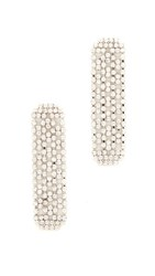 Theia Jewelry Linear Drop Cz Encrusted Earrings Gold
