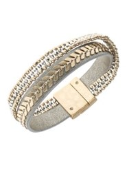 Lonna And Lilly Faux Leather Bangle Bracelet Mutli