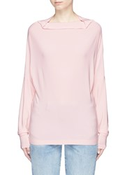 Norma Kamali 'All In One Mini' Convertible Stretch Jersey Top Pink