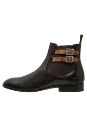 Melvin And Hamilton Guy Boots Classic Dark Brown Camel