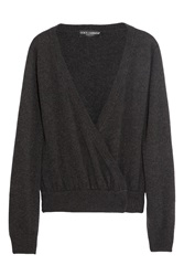 Dolce And Gabbana Cashmere Wrap Cardigan Gray