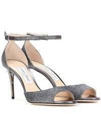 Jimmy Choo Annie 85 Glitter Sandals Metallic