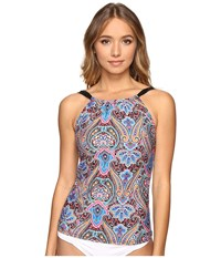 Jantzen Vibrant Paisley High Neck Tankini Top Multi Women's Swimwear