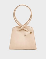 Little Liffner Twisted Triangle Bag In White Leather