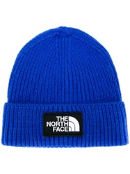 The North Face Ribbed Logo Patch Hat Blue