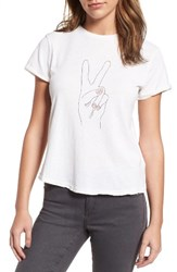 Sincerely Jules Women's Peace Hand Graphic Tee
