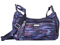 Baggallini New Classic Out And About Bagg With Rfid Phone Wristlet Moonlight Camo Bags Blue