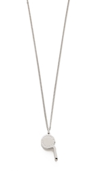 Marc By Marc Jacobs Whistle Pendant Necklace Argento
