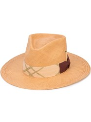 Nick Fouquet Woven Trilby Hat Brown