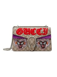 Gucci Dionysus Gg Supreme Shoulder Bag Women Suede Canvas Metal One Size Nude Neutrals