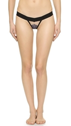 For Love And Lemons Bat Your Lashes Thong Royal Nude Black