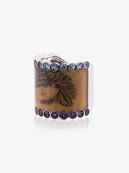 Francesca Villa Multicoloured Madame Pollet Sapphire And White Gold Ring