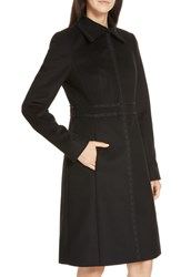 Boss Wool And Cashmere Coat Black