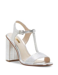 Louise Et Cie Gabbin Leather Dress Sandals Silver