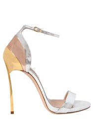 Casadei 120Mm Techno Blade Leather Sandals