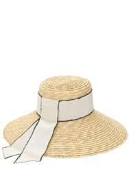 Eugenia Kim Annabelle Straw Hat W Grosgrain Band Natural