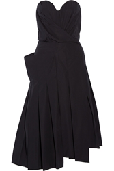 Marc By Marc Jacobs Strapless Stretch Cotton Poplin Midi Dress