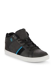 Penguin Lace Up High Top Sneakers Black