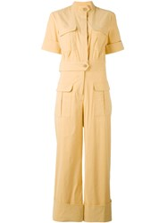 Sea Amelia Jumpsuit Women Cotton Linen Flax Spandex Elastane Viscose 6 Yellow Orange