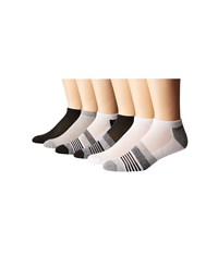 Steve Madden 6 Pack Low Cut Arch Support 1 2 Cushion Black Marl Low Cut Socks Shoes Gray