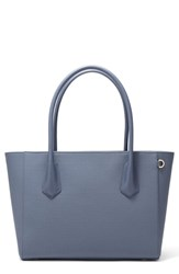 Dagne Dover Signature Legend Coated Canvas Tote Blue Ash Blue
