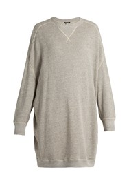 R 13 X Oversized Cotton Jersey Sweatshirt Grey