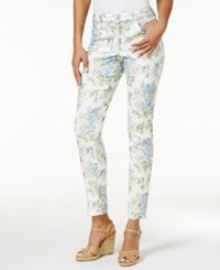 Charter Club Petite Bristol Jacquard Skinny Jeans Only At Macy's Light Blue Air Combo
