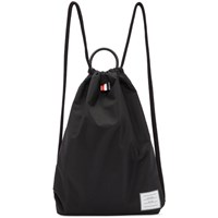 Thom Browne Black Drawcord Handle Backpack