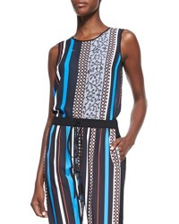 Clover Canyon Library Striped Jersey Sleeveless Top Multi