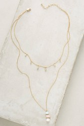 Anthropologie Annabelle Layered Necklace Gold