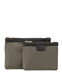 Neiman Marcus Ella Pouch Two Piece Box Set Military