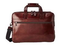 Bosca Old Leather Collection Stringer Bag Dark Brown Leather Briefcase Bags