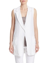 Dkny Pure Single Button Linen Vest White