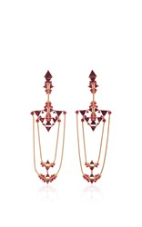 Fernando Jorge Fusion Chandelier Earrings Red