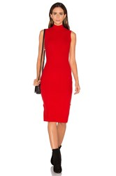 Gettingbacktosquareone The Sleeveless Turtleneck Sweater Dress Red