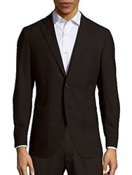 Saks Fifth Avenue Made In Italy Two Buttoned Woolen Jacket Black